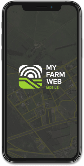 MyFarmWeb website on an iPhone